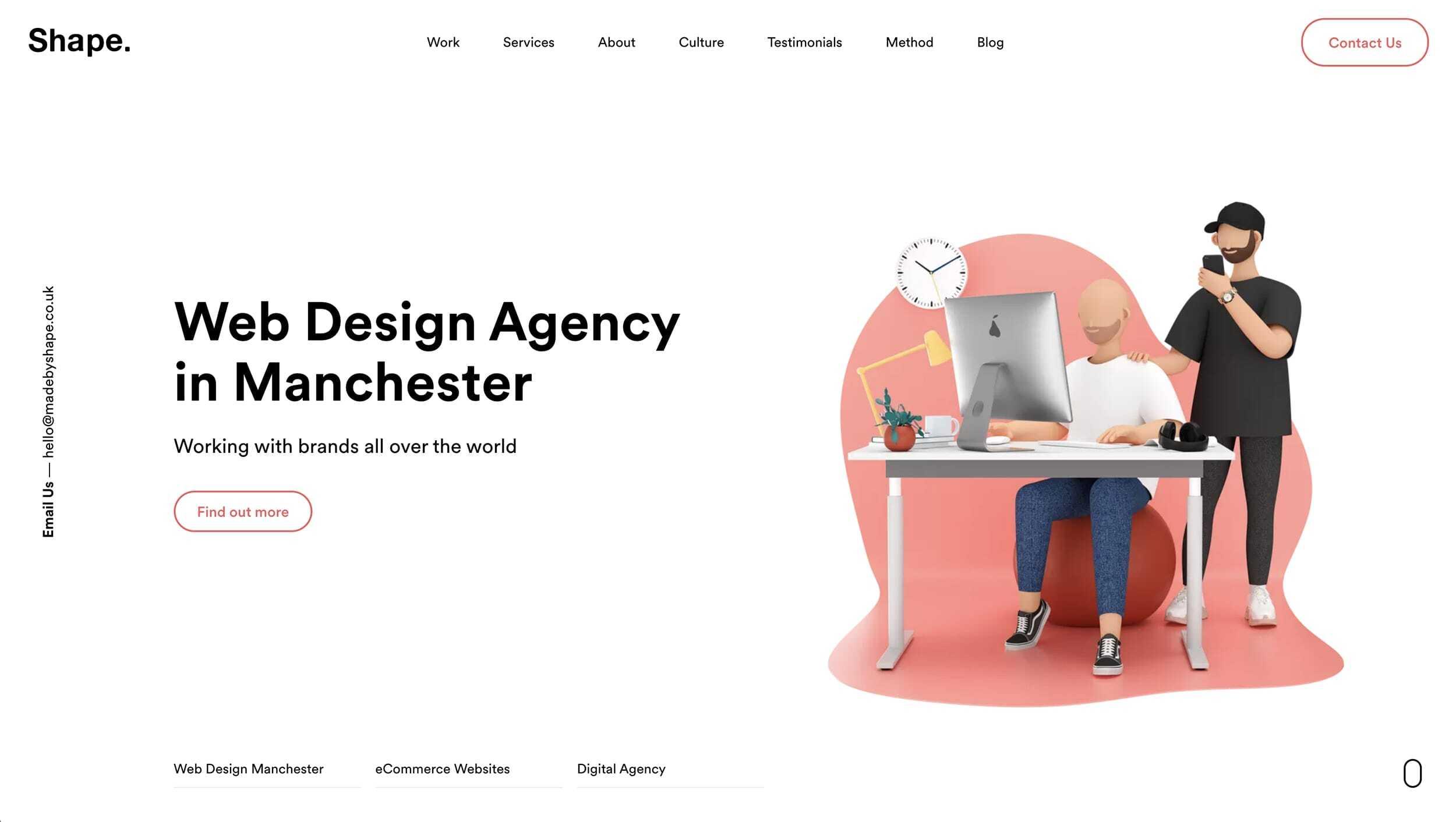 MadeByShape Website Landing Page