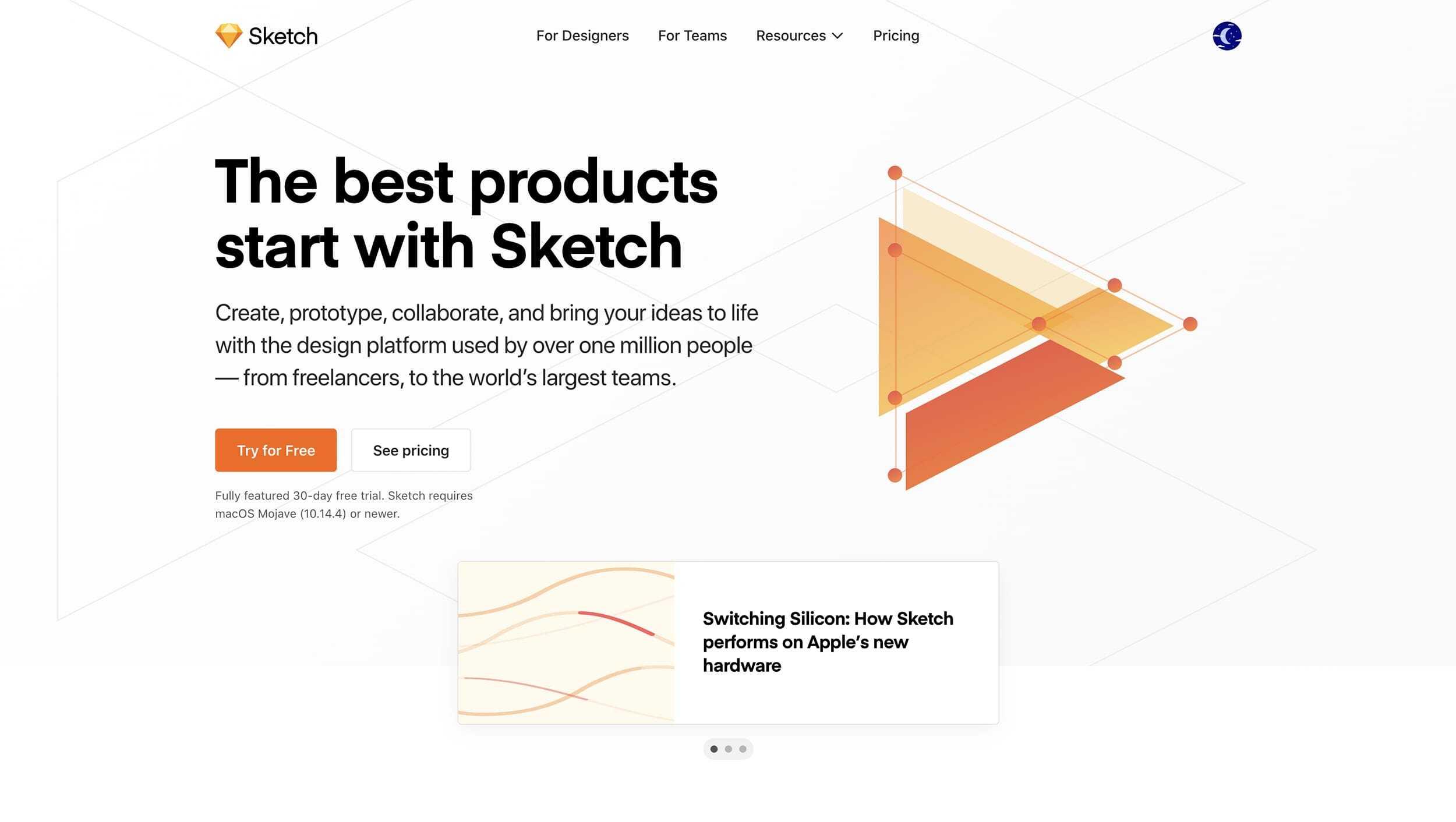 Sketch App Website Landing Page