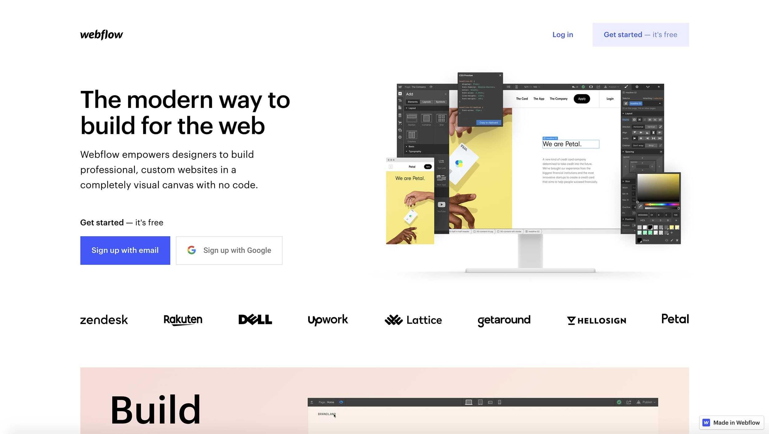 Webflow Website Landing Page