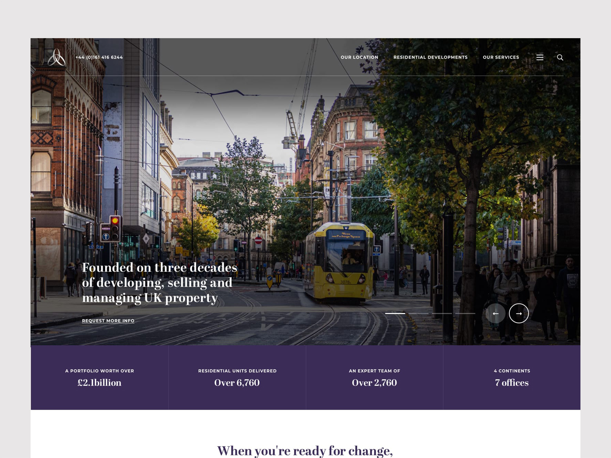 Alliance Investments Homepage Design