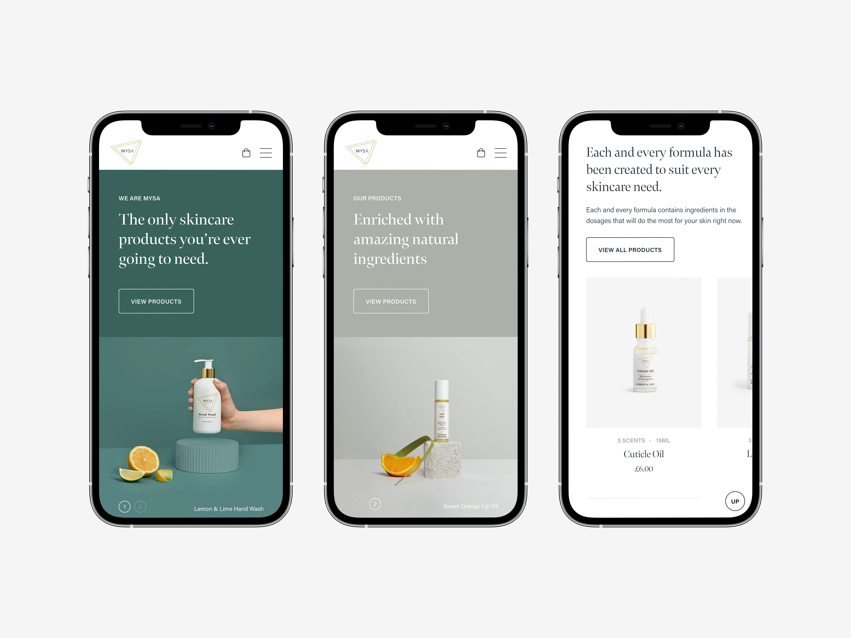 MYSA Responsive Homepage