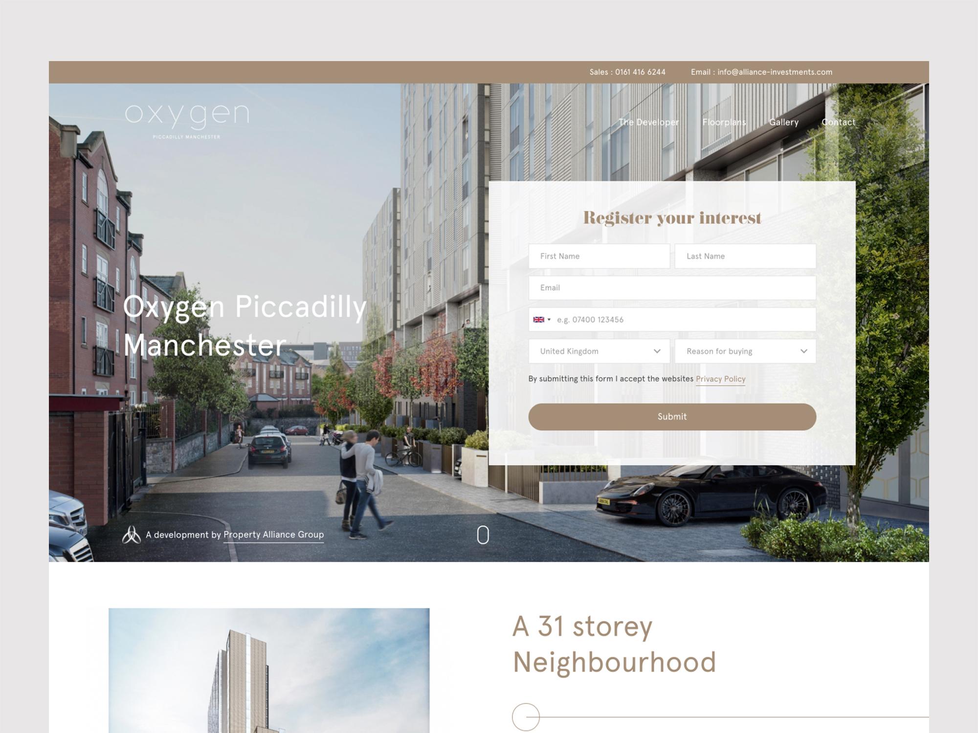 Alliance Oxygen Website Design