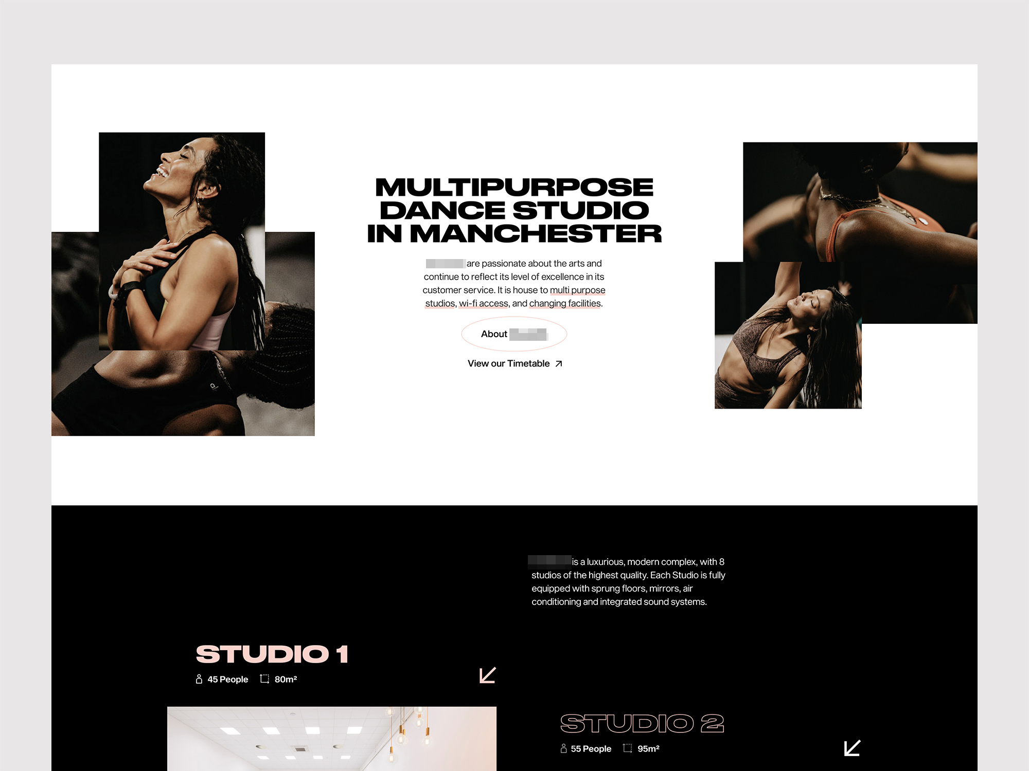 Dance Studio Web Homepage Design